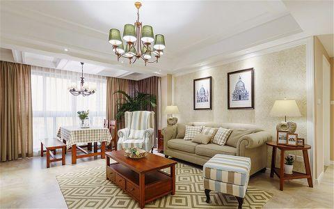 美式风格80平米两室两厅室内装修效果图