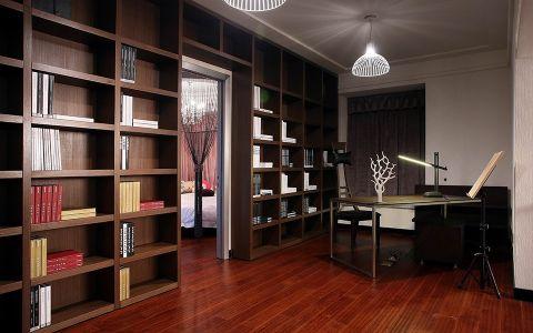 书房博古架现代风格装修设计图片