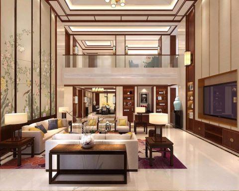 新中式风格354平米三室两厅室内装修效果图