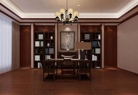 书房地板砖新中式风格装修效果图
