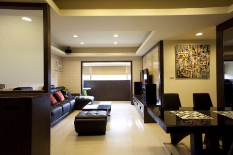 客厅背景墙现代简约风格装饰效果图