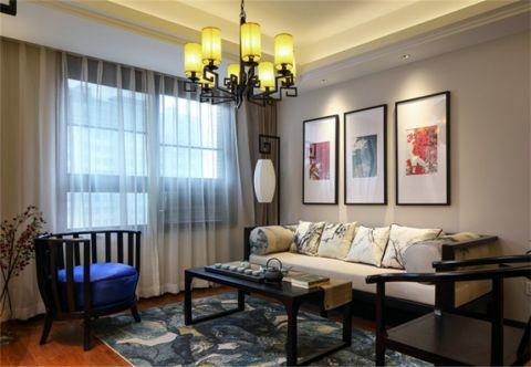 新中式风格130平米3房2厅房子装饰效果图