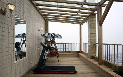 阳台背景墙欧式风格装饰图片
