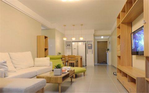 现代简约风格88平米两房两厅新房装修效果图