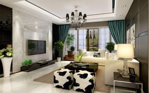 现代欧式风格300平米别墅房子装饰效果图
