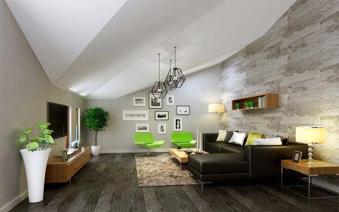 客厅阁楼现代欧式风格装饰效果图