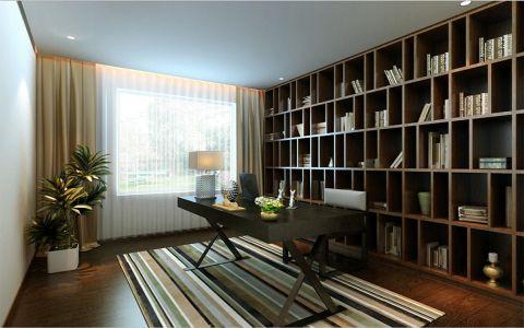 书房博古架日式风格装饰设计图片