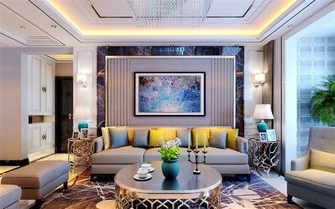 现代简约风格125平米三室两厅室内装修效果图