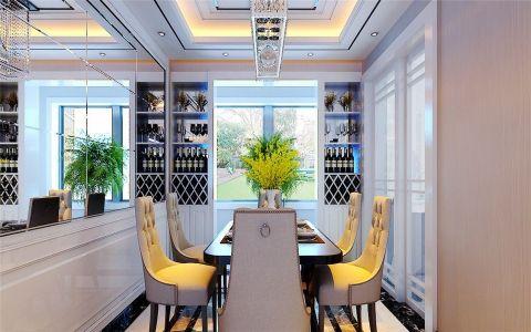 餐厅博古架现代简约风格装饰设计图片