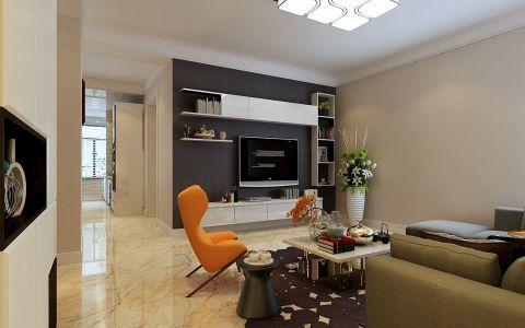 现代简约风格135平米楼房室内装修效果图