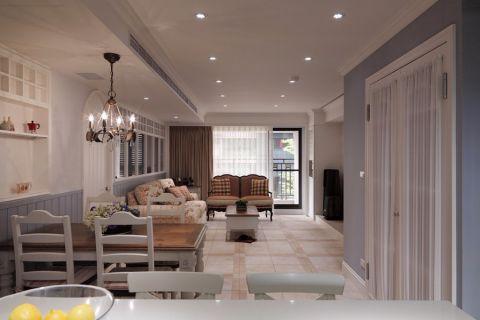 法式风格118平米三房两厅新房装修效果图