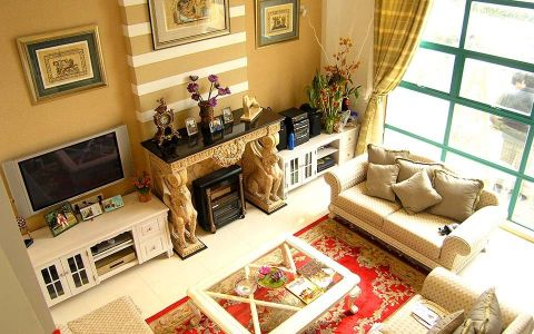 混搭风格150平米四室两厅室内装修效果图