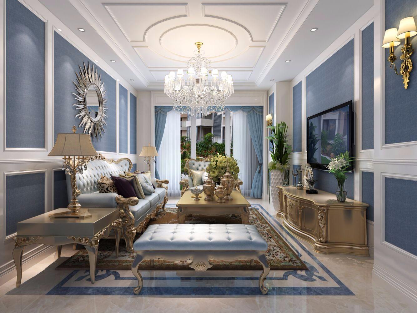 3室2卫2厅140平米法式风格
