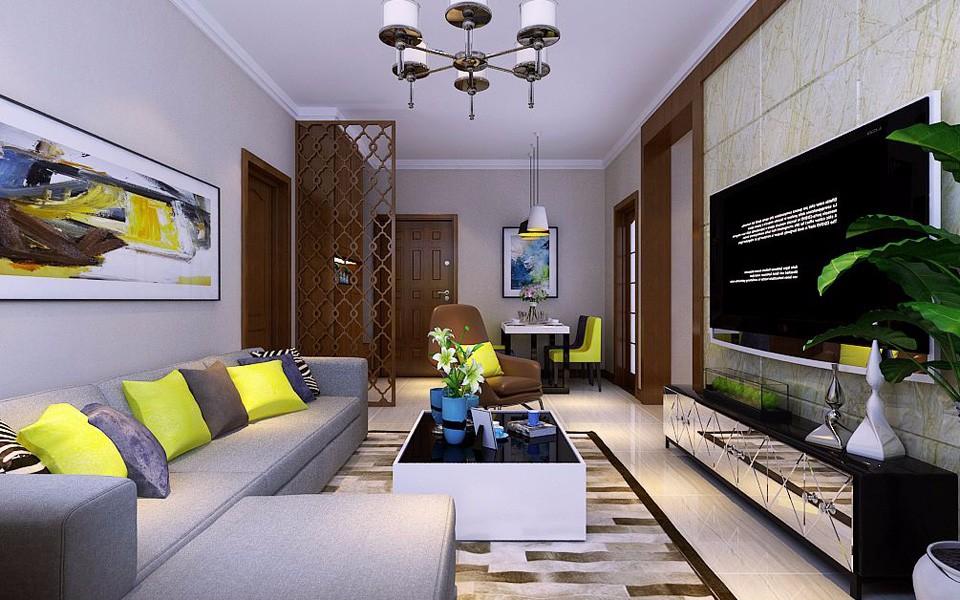 2室1卫1厅92平米现代简约风格