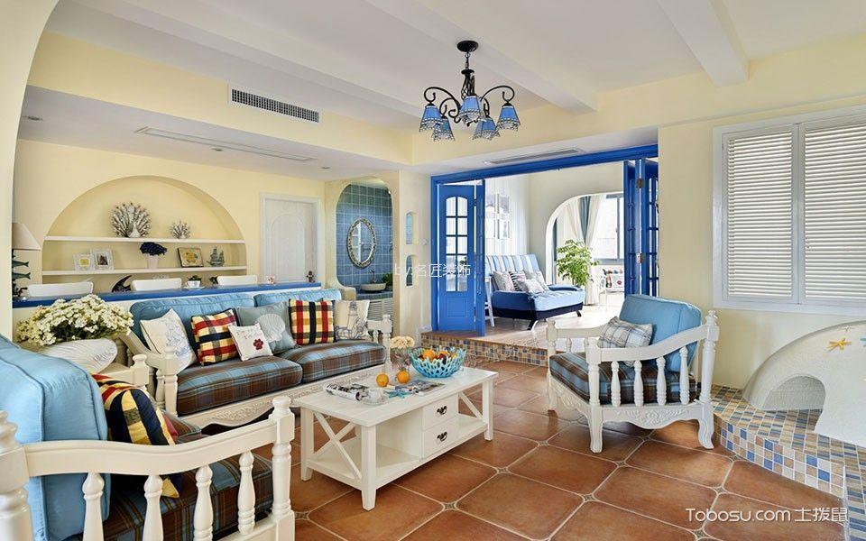 地中海风格180平米4房2厅房子装饰效果图