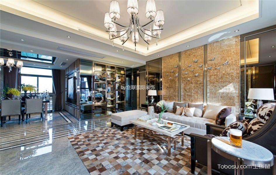 混搭风格140平米三室两厅室内装修效果图