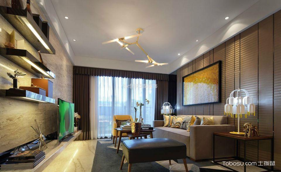 现代简约风格140平米3房2厅房子装饰效果图