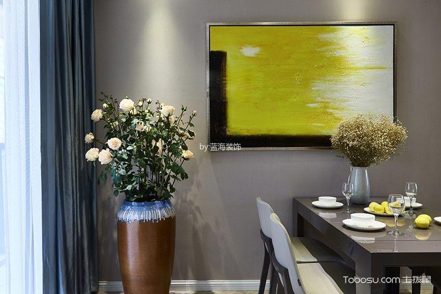 餐厅灰色窗帘简约风格装潢效果图