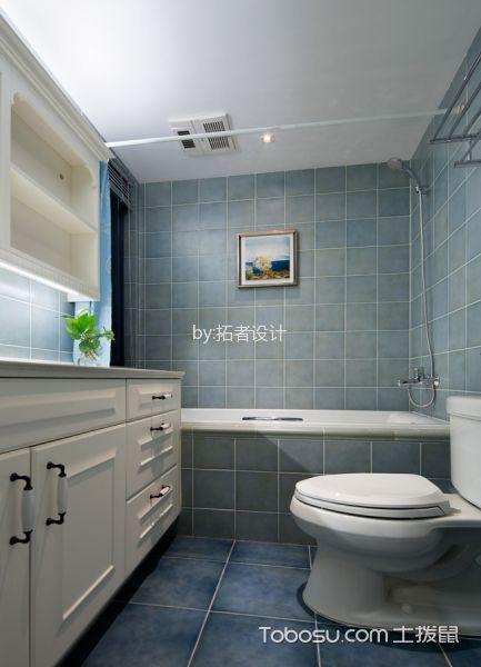 卫生间白色吊顶美式风格装潢效果图