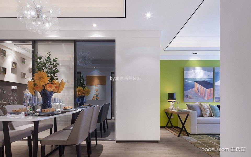 餐厅白色走廊现代风格装潢设计图片