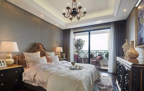 卧室背景墙现代欧式风格装饰效果图