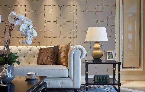 客厅背景墙现代欧式风格装饰图片