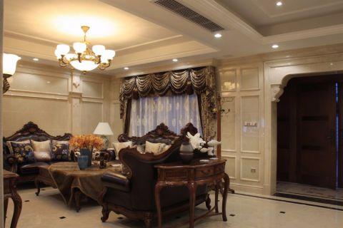 欧式风格300平米别墅室内装修效果图