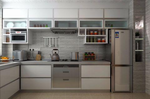 厨房背景墙简约风格装潢图片