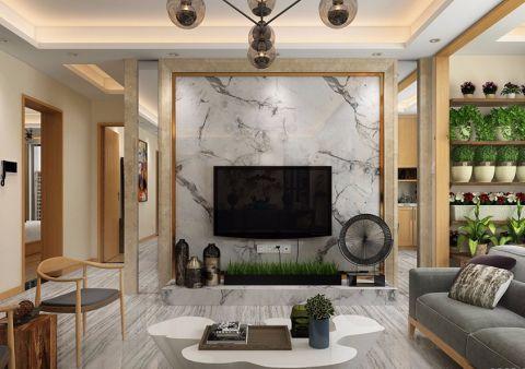 简约风格120平米公寓室内装修效果图