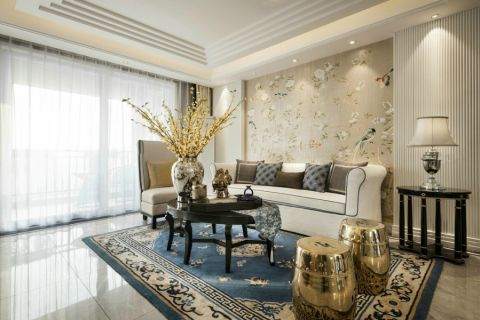 简欧风格120平米3房2厅房子装饰效果图