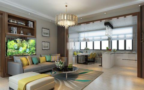 现代简约风格126平米楼房房子装饰效果图