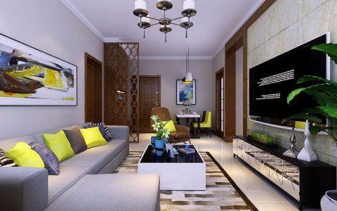 现代简约风格92平米小户型房子装饰效果图