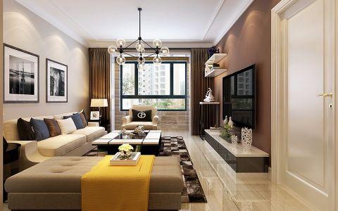 现代简约风格92平米楼房房子装饰效果图