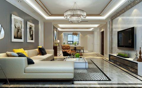 现代简约风格230平米大户型室内装修效果图