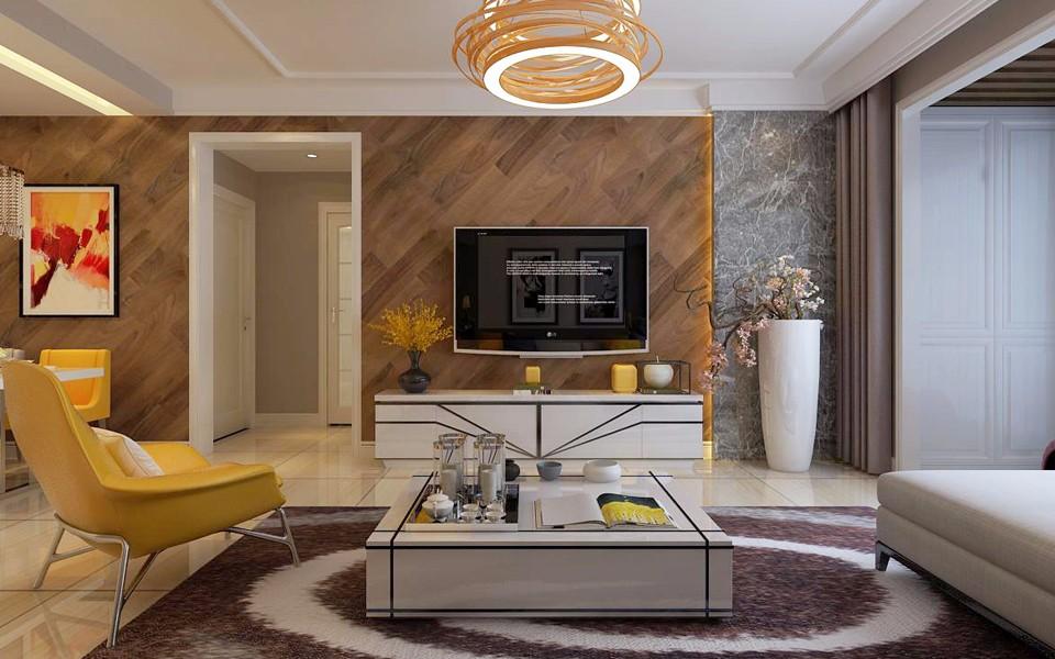 2室2卫1厅100平米现代简约风格