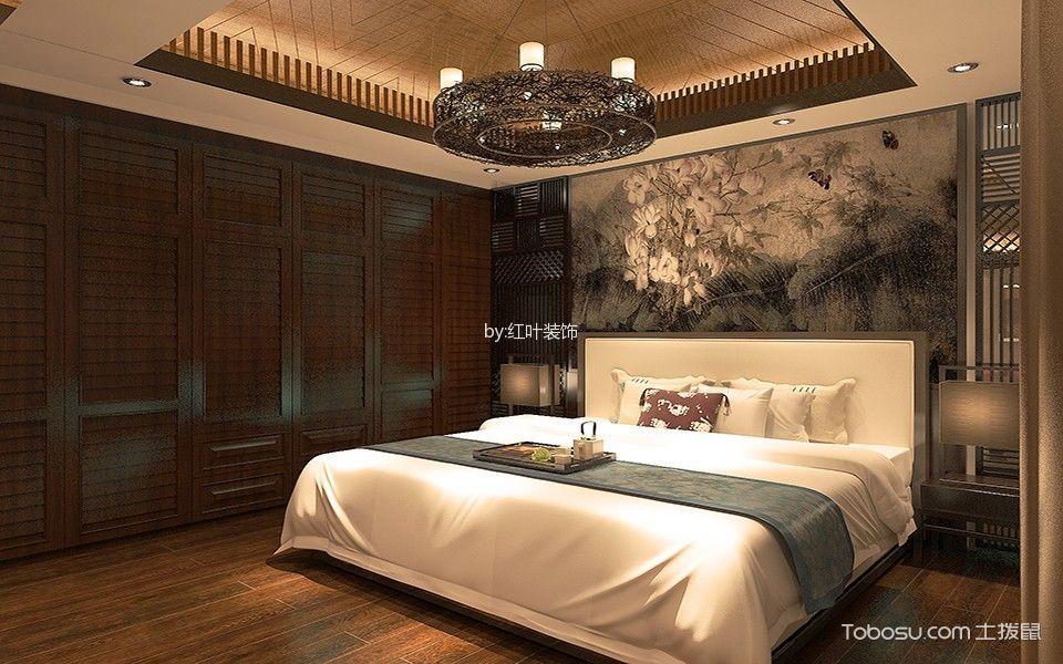 新中式风格130平米2房2厅房子装饰效果图