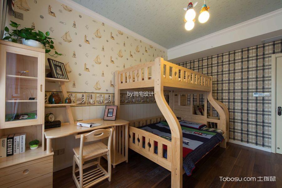 儿童房白色吊顶美式风格装修图片