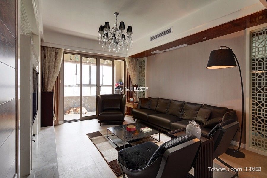 新中式风格180平米公寓室内装修效果图