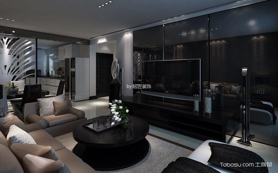 现代风格100平米两室两厅室内装修效果图