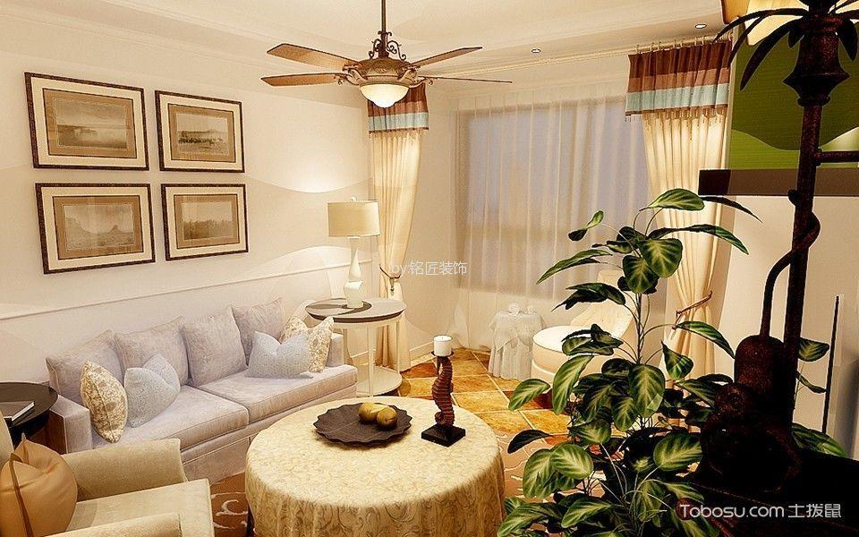 美式风格100平米三两室两厅室内装修效果图