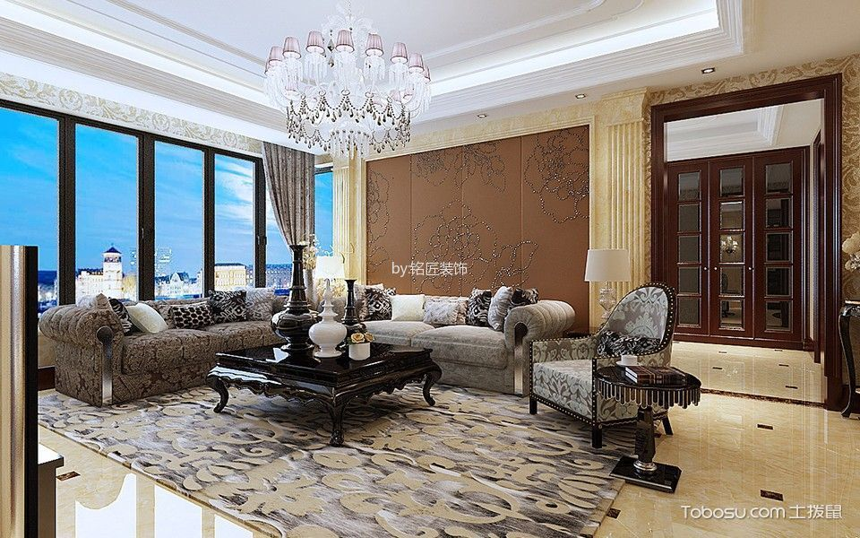 欧式风格270平米大户型房子装饰效果图