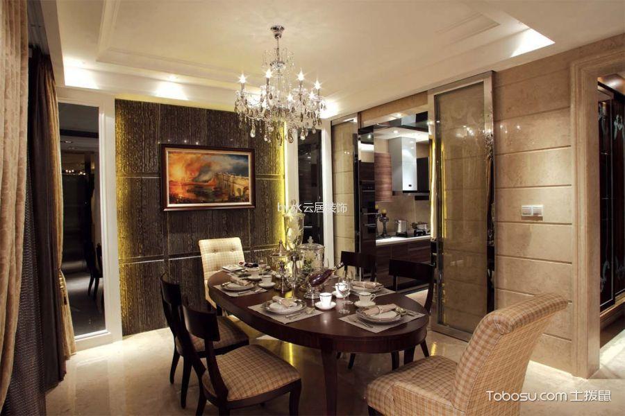 餐厅黑色背景墙混搭风格装饰设计图片