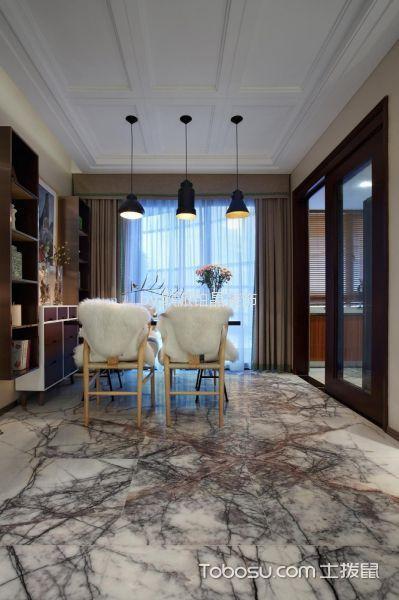 餐厅灰色窗帘现代风格装饰效果图