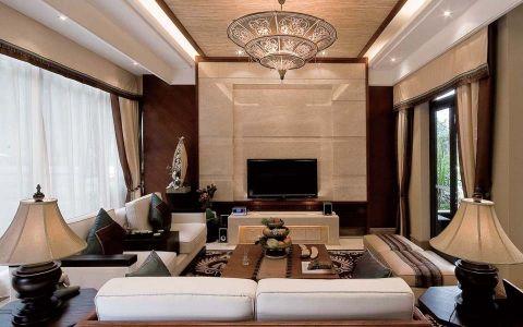 古典风格133平米三房两厅新房装修效果图