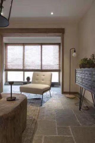 客厅白色吊顶北欧风格装潢效果图