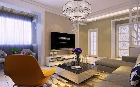 现代简约风格104平米楼房室内装修效果图
