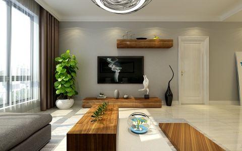 现代简约风格120平米楼房室内装修效果图