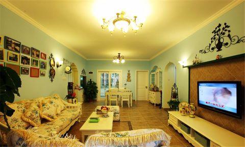 田园风格120平米三房两厅新房装修效果图