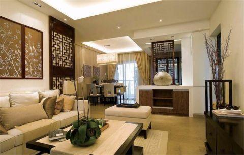 中式风格90平米两室两厅室内装修效果图