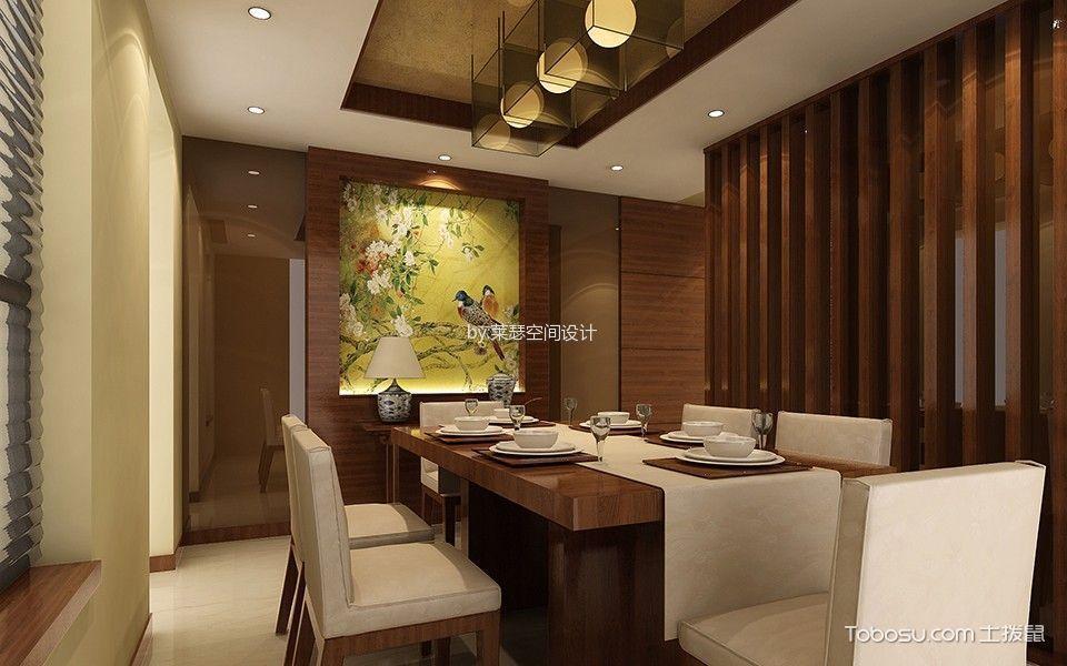 中式风格90平米两房两厅新房装修效果图